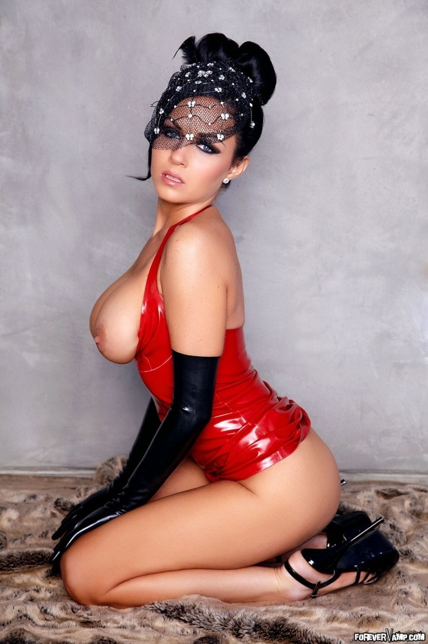 Isabella Fierra Red Latex Tonic Movies 1